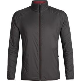 Icebreaker Hyperia Lite Hybrid Jacket Herre Charred/Black